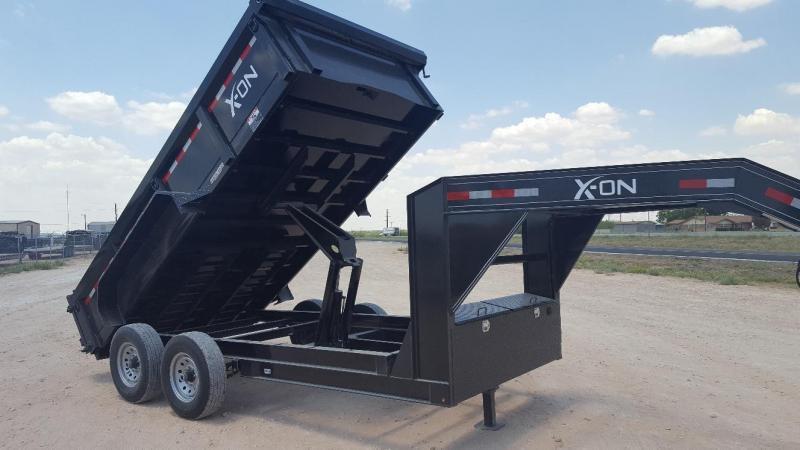 """2019 X-ON 83"""" x 16' Gooseneck Dump Trailer"""