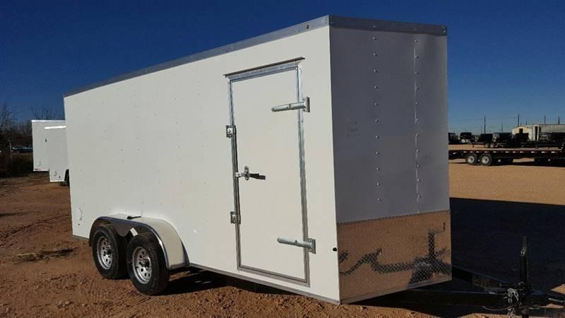 2019 Salvation Trailers 7 X 16 TA Enclosed Ramp Door