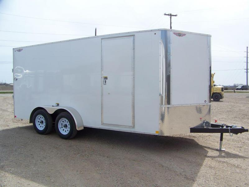 2018 H and H Trailer 7X16 TANDEM FLAT TOP CA VNOSE 7K CARGO