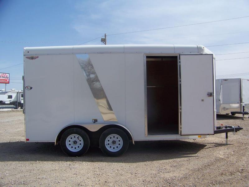 2018 H and H Trailer 7X14 TANDEM RND TOP HH VNOSE 7K CARGO