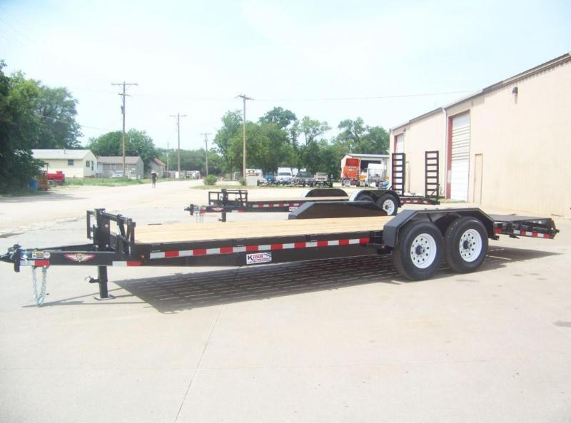 "2018 H&H 82""x18+4' IL Super Deluxe Flatbed Trailer in Ashburn, VA"
