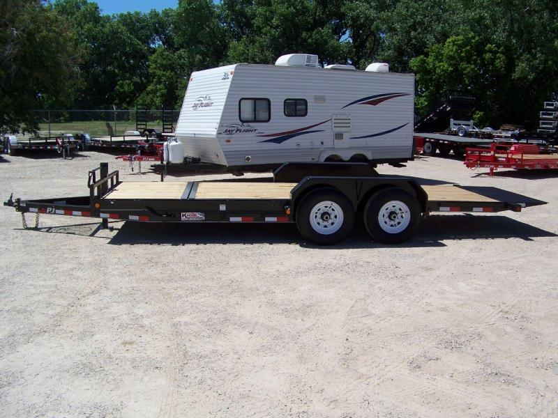 2020 PJ Trailers 20' 6 in. Channel Equipment Tilt (T6) Equipment Trailer