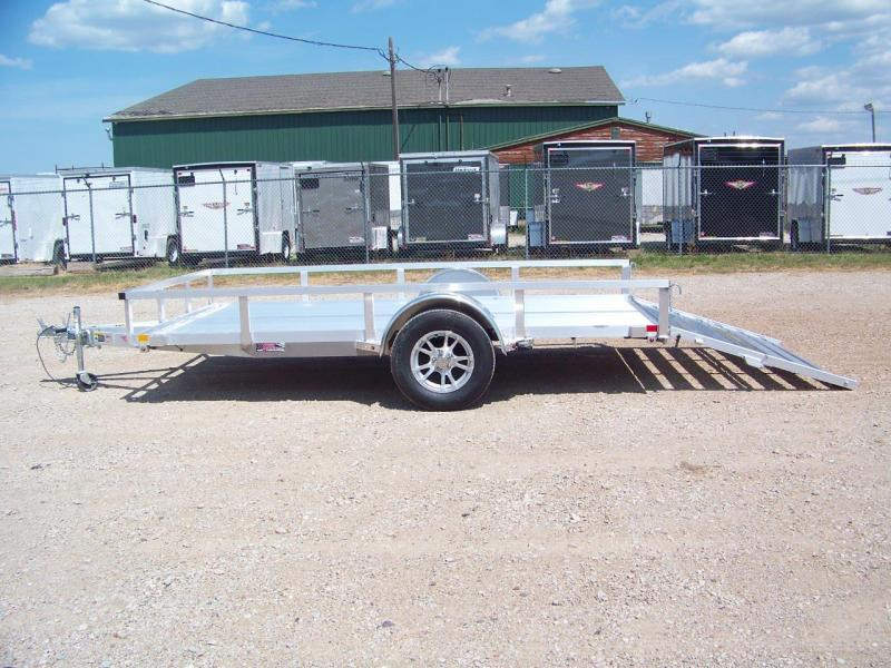 2019 H and H Trailer 8(76)x12 RAILSIDE ALUM STD