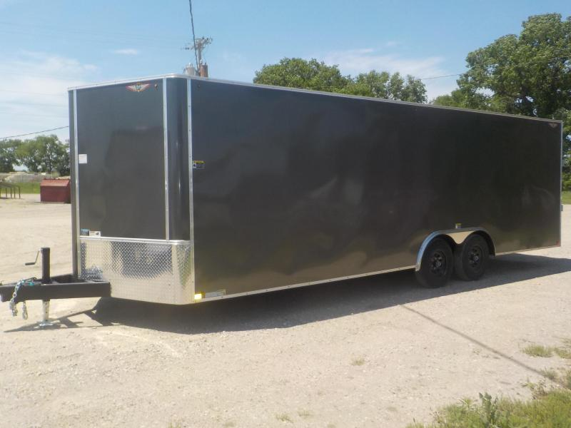 2019 H and H Trailer 101X24 HH F-TOP Enclosed CARHAUL VNOSE 10K CARGO