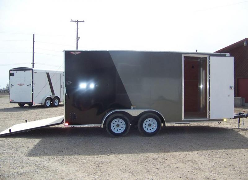 2018 H and H Trailer 7X16 TANDEM FLAT TOP HH VNOSE 7K CARGO