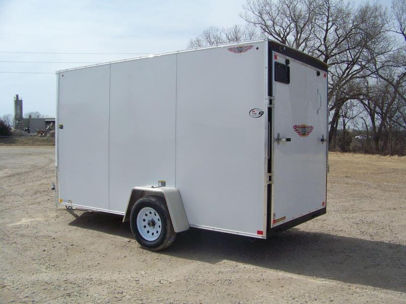 2019 H and H Trailer 6X12 SINGLE FLAT TOP HH VNOSE 3.5K CARGO