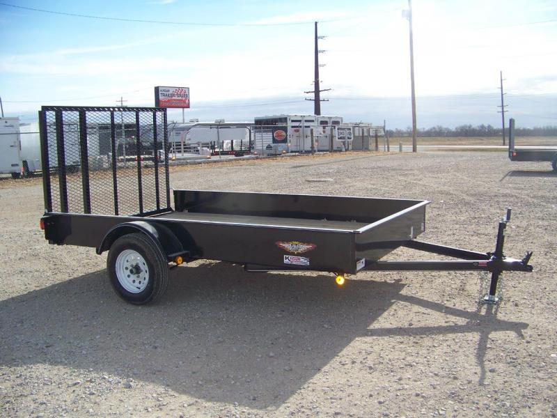 2018 H and H Trailer 76X12 Solid Side Utility Trailer
