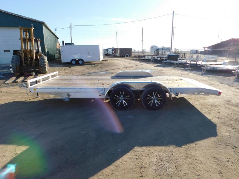 2019 H&H 8.5x18 HDA Aluminum Flatbed