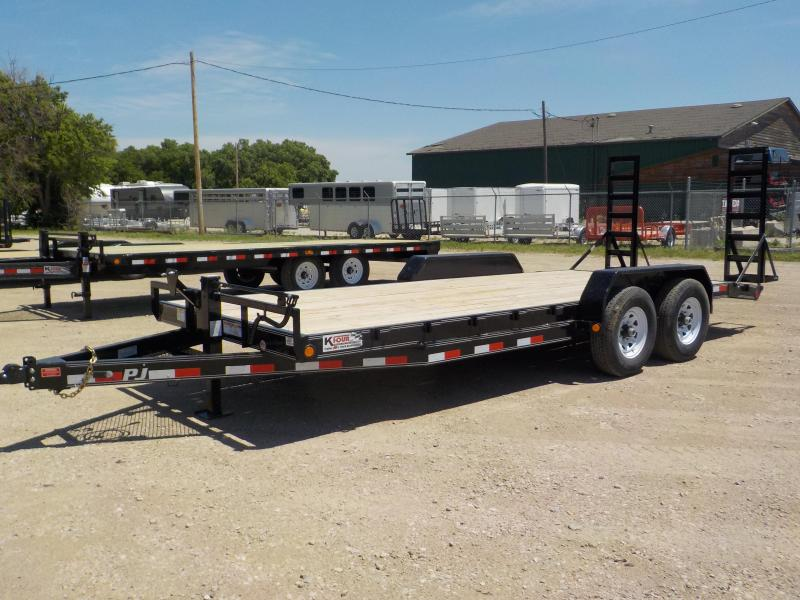 2020 PJ  18Ft Equipment Trailer / Open Car Trailer