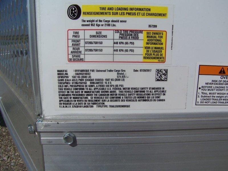 2018 Haulmark ALX Utility 6' Wide HAUV6X10DS