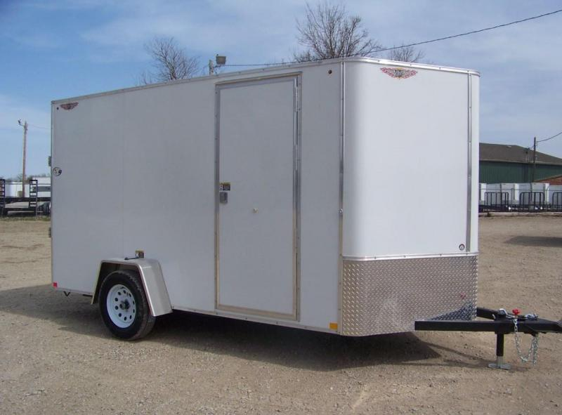 2018 H and H Trailer 6X12 SINGLE FLAT TOP HH VNOSE 3.5K CARGO