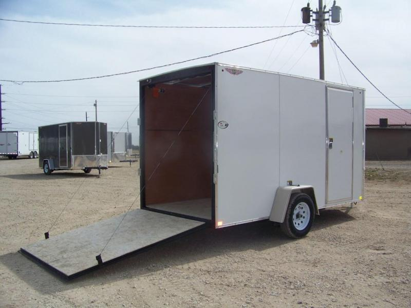 2018 H&H 6X12 SFT Single Axle Enclosed Cargo Trailer