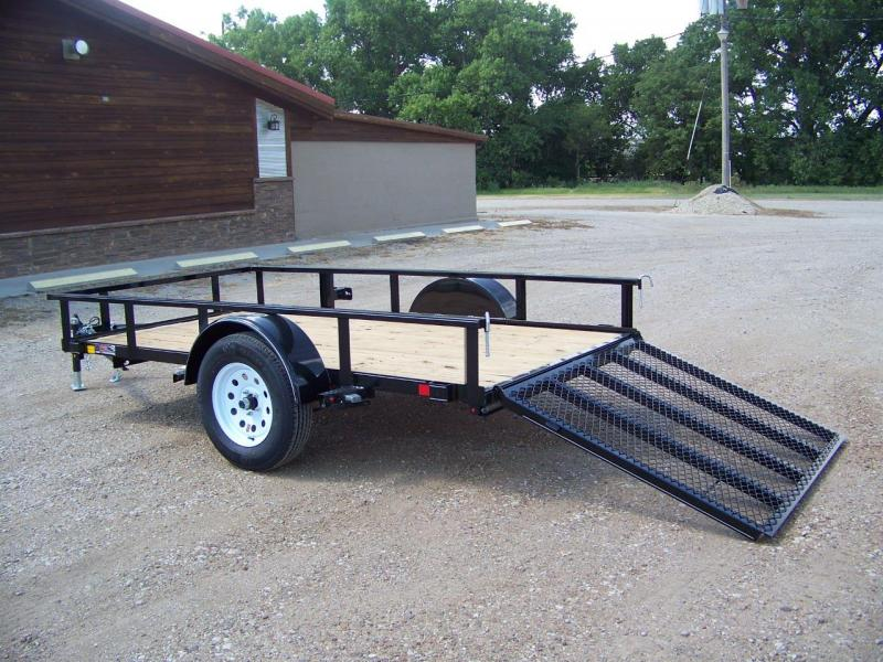 2019 H and H Trailer 5.5X10 STEEL RAIL SIDE 3.5K
