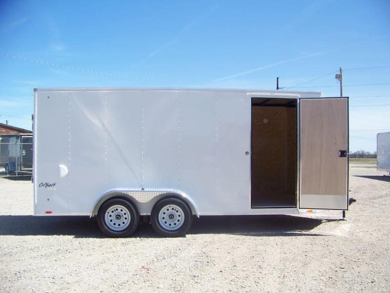 2018 Pace American OB7X16TE2DLX Enclosed Cargo Trailer