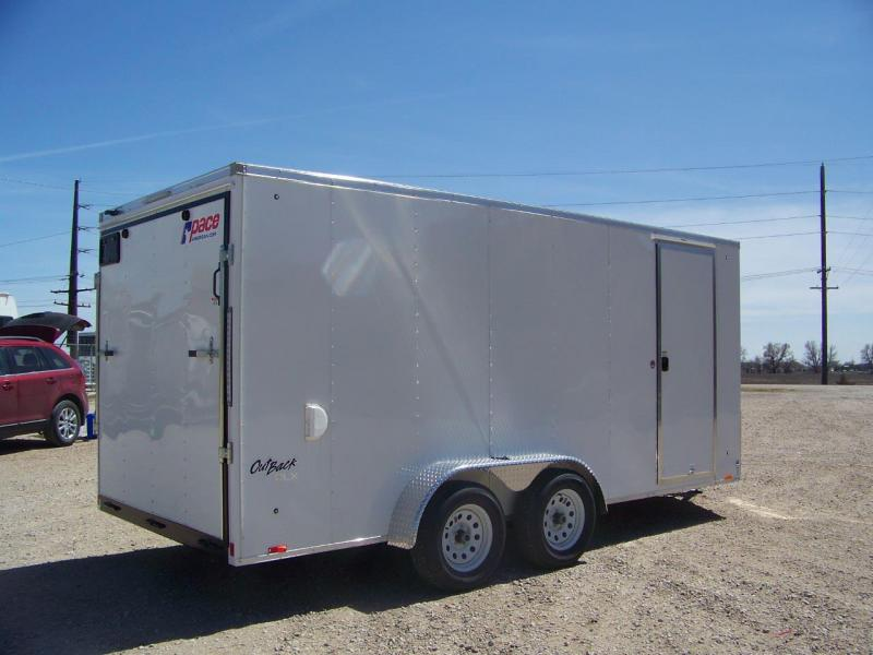 2018 Pace American Outback DLX 7X16 Enclosed Cargo Trailer