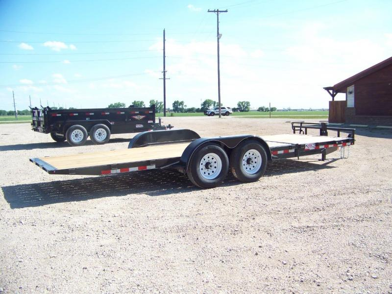 2018 H and H Trailer H166GTL Equipment Trailer