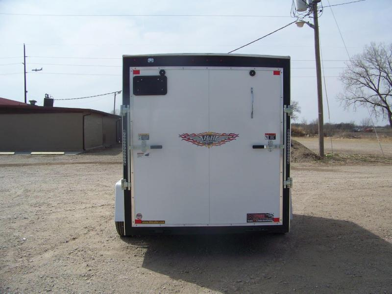 2018 H and H Trailer 6X10 SINGLE FLAT TOP HH VNOSE 3.5K CARGO