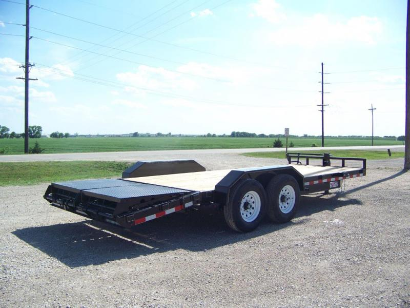 2018 H and H Trailer H82164ILSDR-140 Flatbed Trailer