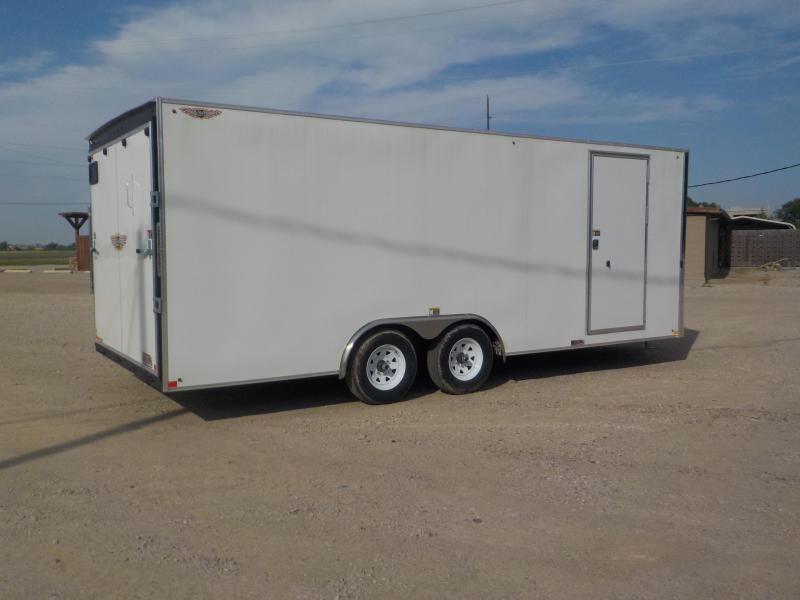 2019 H and H Trailer 101X20 ENCLOSED HH F-TOP CARHAUL VNOSE 10K CARGO