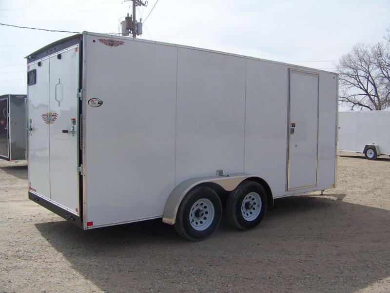 2018 H&H 7X16 TFT Tandem Enclosed Cargo