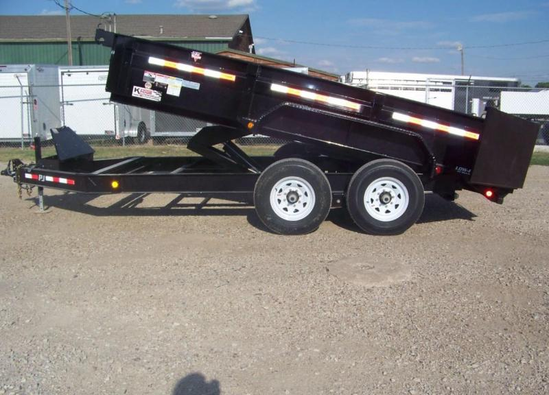 "2018 PJ 83""x14' [DL] Low Pro Dump Trailer"