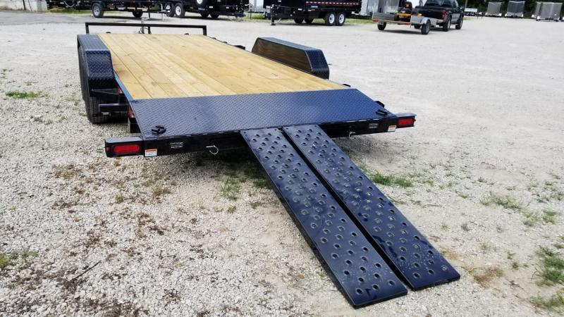 2020 Sure-Trac 7x18 Wood Deck Auto Hauler w/Slide Out Ramps 7k