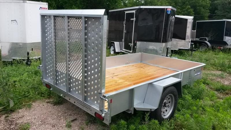2018 Sure Trac 6x12 Galvanized High Side Utility w/Gate 3k