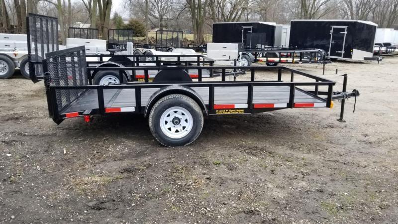2019 M.E.B. 6.4x12 Angle Iron Utility Trailer w/Ramp & Dovetail 3k