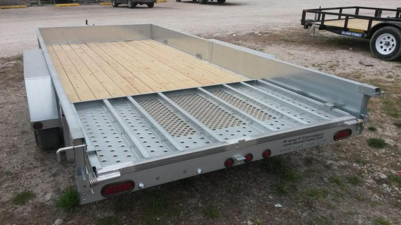 2019 Sure-Trac 7x16 Galvanized High Side Utility w/Spring Assisted Gate 7k