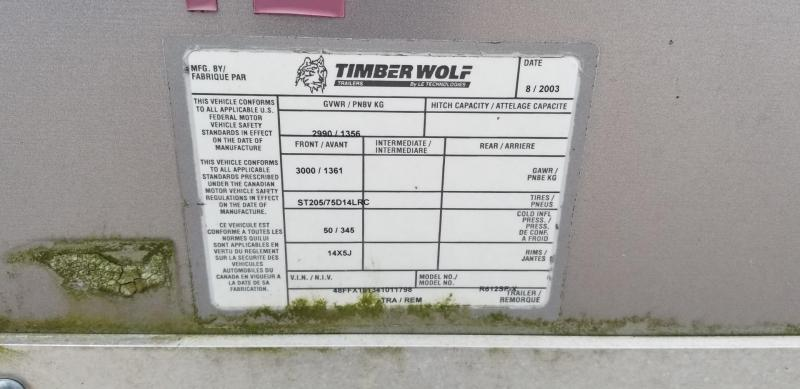 2004 Timberwolf 6x12 Enclosed Cargo Trailer 3k