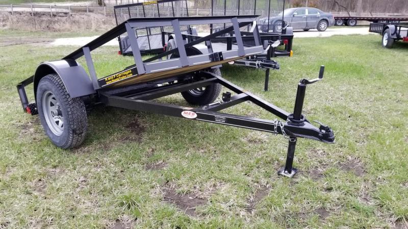 2018 M.E.B 5x10 Tilt Utility Trailer w/Board Holders 3.5k