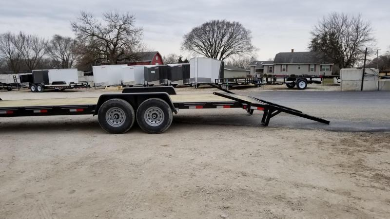 2018 M.E.B 7x24 Gooseneck Equipment Trailer w/Stand Up Ramps 14k