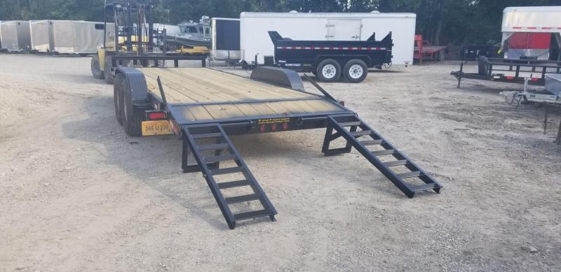 RENTAL #22 7x20 M.E.B Equipment Trailer w/Stand Up Ramps
