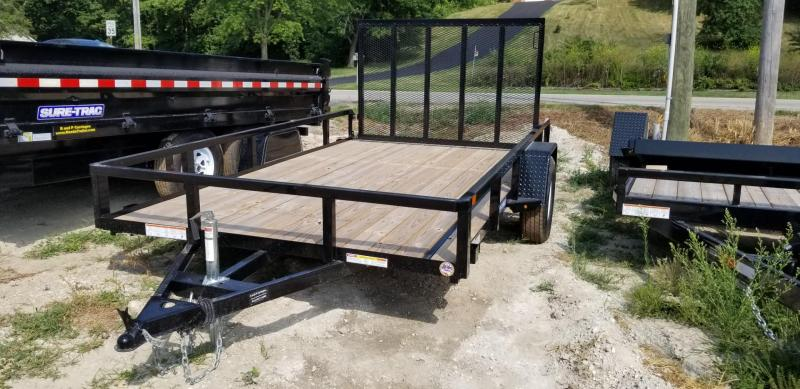 2019 Sure-Trac 7x12 Tube Top Utility w/Fold Flat Gate 3k