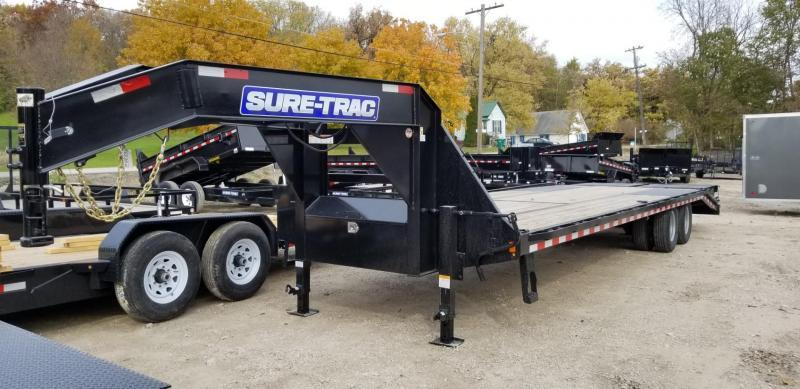 2019 Sure-Trac 8.5x20+5 Heavy Duty Gooseneck Equipment Trailer w/Full Width Ramps 20k