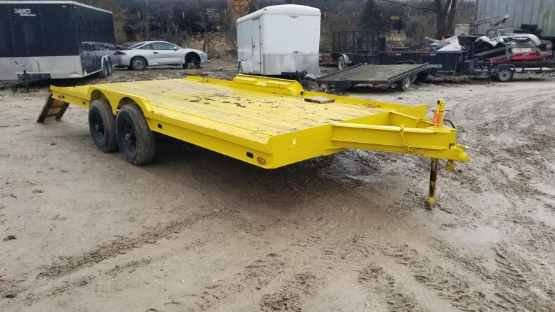 1980 Homemade 7x18 Car Hauler Flatbed Trailer