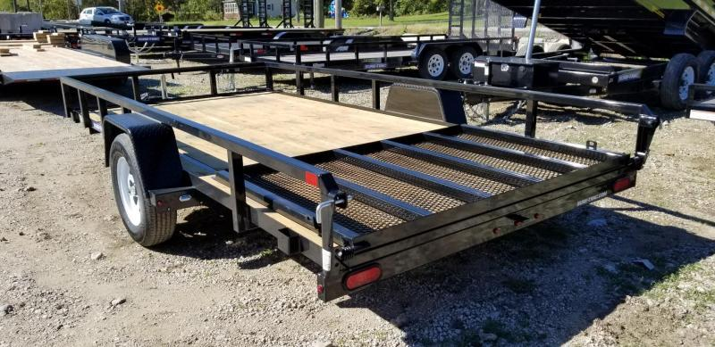 2019 Sure-Trac 7x14 Tube Top Utility Trailer w/Spring Assisted Gate 3k