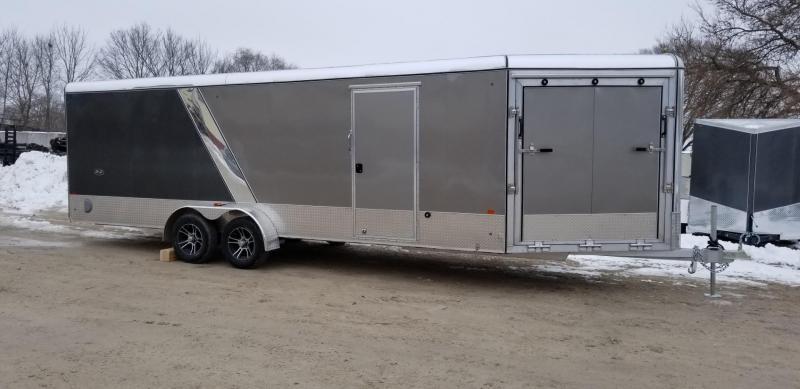 2019 R&R 7x22 PSD All Aluminum Drive Thru 4 Place Snowmobile Trailer 7k