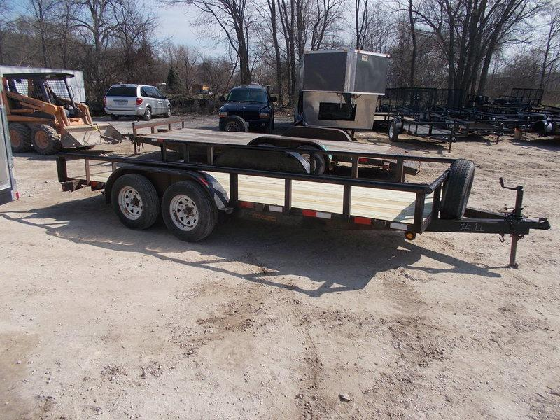 RENTAL #11 77x16 M.E.B. Utility Trailer w/Board Holders