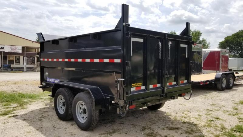 2020 Sure-Trac 82x12 Telescopic Dump Trailer w/4' Sides 14k