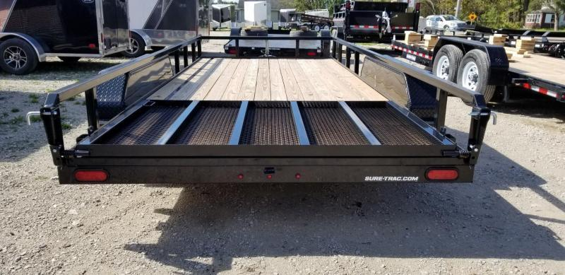 2019 Sure-Trac 7x16 Tube Top Utility Trailer w/Spring Assisted Gate 7k