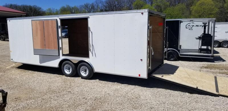 2019 Interstate 8.5x24 IFC Steel Enclosed Car Hauler w/Escape Door 10k