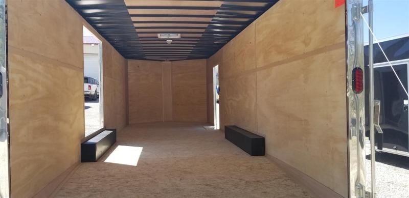2019 Interstate 8.5x24 IFC Steel Enclosed Car Hauler w/Escape Door 10k