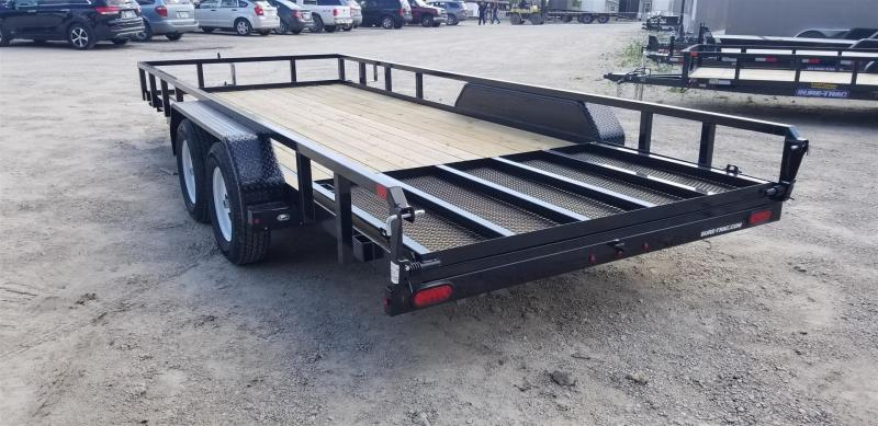 2019 Sure-Trac 7x18 Tube Top Utility Trailer w/Spring Assisted Gate 7k