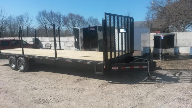 2018 M.E.B 8.5x30 Deckover Equipment Trailer w/Uprights 14k