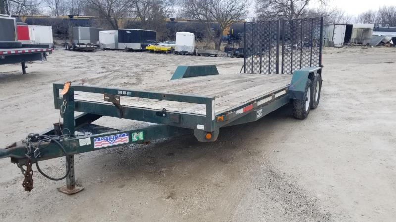 2007 Liberty 7x20 Equipment/Car Hauler Flatbed Trailer