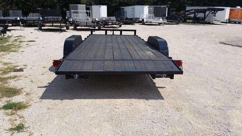 2018 MEB 7x20 Open Wood Deck Car Hauler 7K