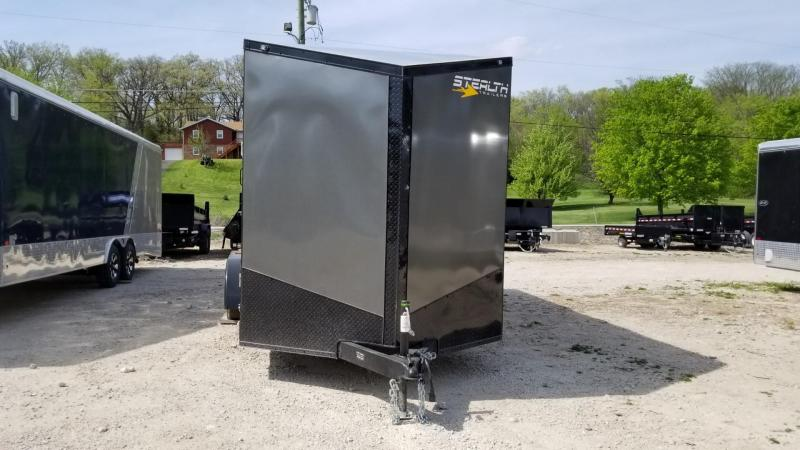 2019 Stealth 7x16 Charcoal/Black Enclosed Cargo Trailer 7k