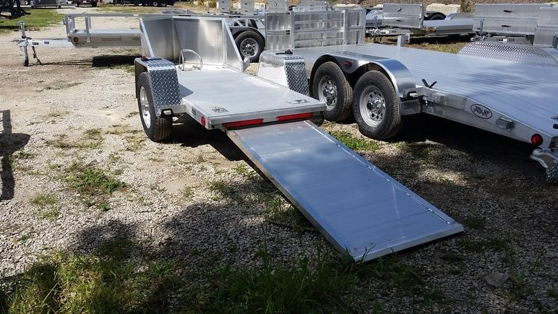 2019 R&R OMC1 All Aluminum Motorcycle Trailer 2.2k