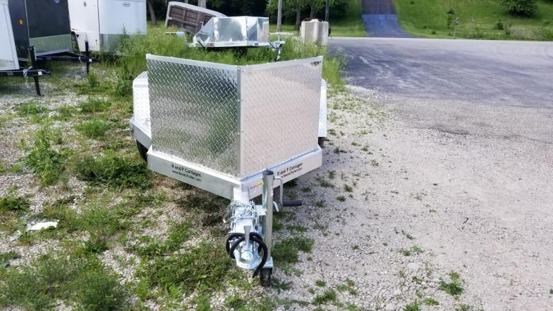 2019 R and R OMC1 All Aluminum 1 Place Motorcycle Trailer 2.2k